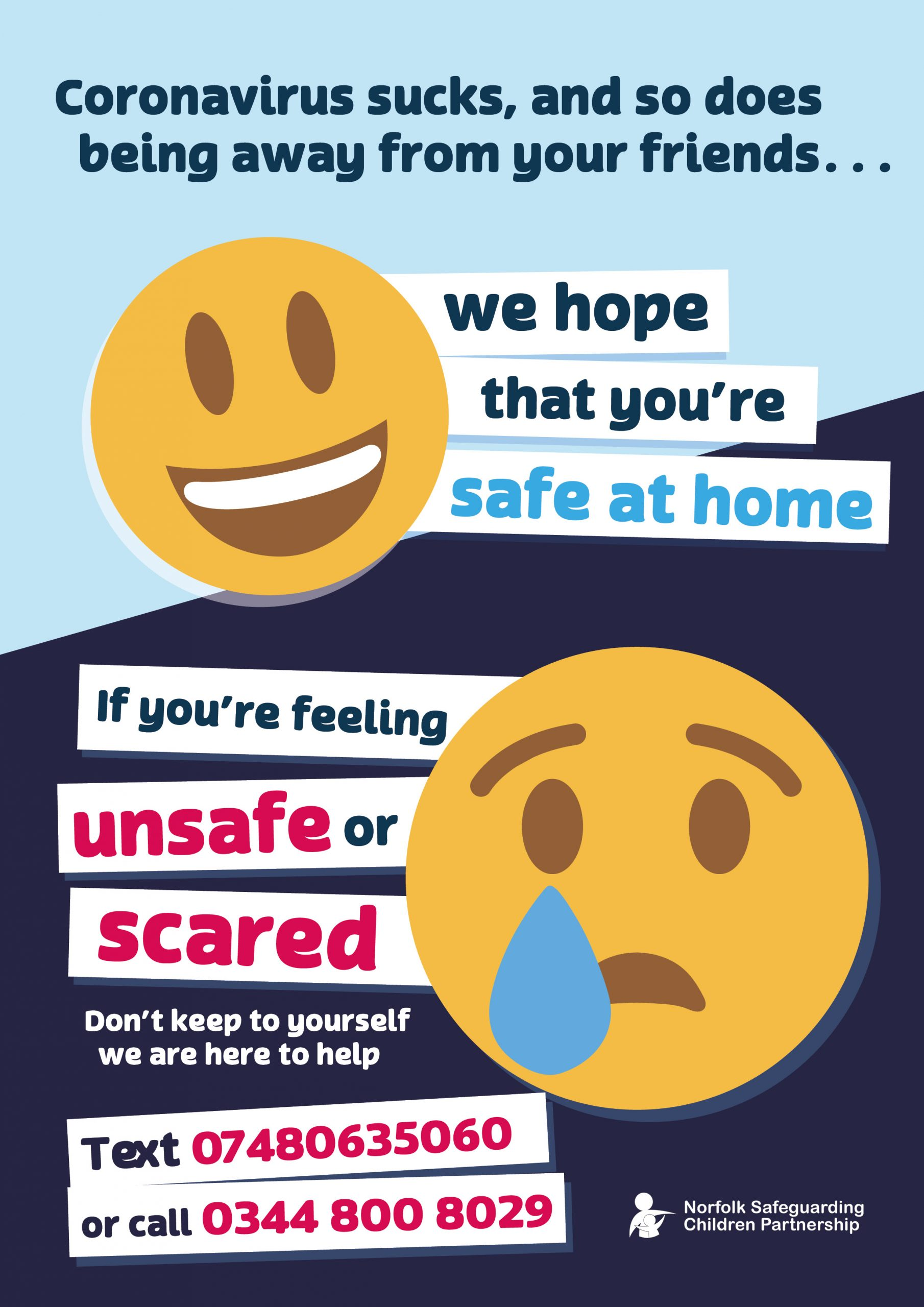 We hope that you're safe at home…..
